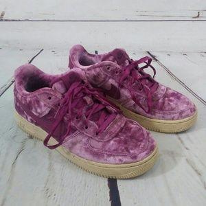 Nike Air Force 1 purple velvet size 5y